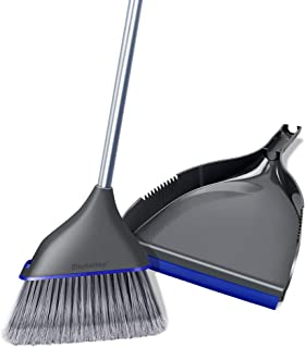 Dustpan and Broom Set Short Long Handle 2019 Hand held Broom and Dustpan Set Upright Sweep Set with Replaceable Broom Hand-Held Dustpan for Floor Cleaning Sweep Set