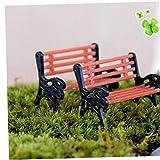 Amoyer 1pc Mini Park Künstliche Mikro Landschaft Miniatur Sitzverstell- Ornament Garten-Stuhl für Craft Dekor Puppenhaus DIY