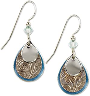 View Silver Forest Holiday Earrings Background