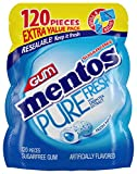 Mentos Pure Fresh Sugar-Free Chewing Gum with Xylitol, Fresh Mint, 120 Piece Bulk Resealable Bag (Pack of 1) by Perfetti Van Melle