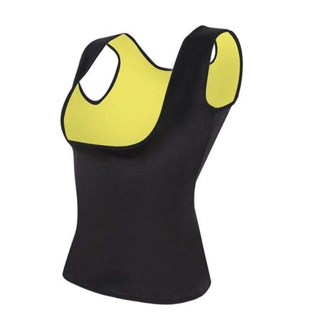 繊維説明する精査調節可能な汗ベルトボディシェイパーを細くする恋人美容ウエストトレーナーベストホットシェイパー - ブラックL