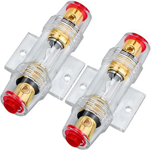 2pcs Portafusibles AGU In-Line de Calibre 4/8 AWG con Fusibles AGU 60A...