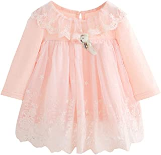 K-youth Vestido Bebé Niña Bautizo, Ropa de Bebe Niña Recien Nacido Otoño Invierno Tutú Vestido de Princesa Fashion Boda Ro...