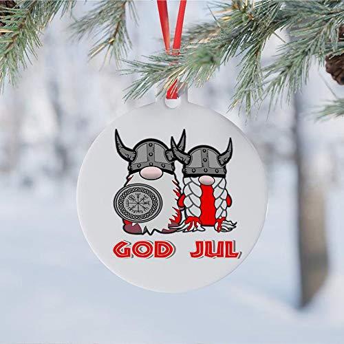 Lplpol God Jul Ornament, Weihnachtsdekoration, Weihnachtsgeschenk, Weihnachtsgeschenk, Weihnachtsgeschenk, Weihnachtsdekoration, Zwerge, Dekoration, Urlaubsdekoration, Geschenk
