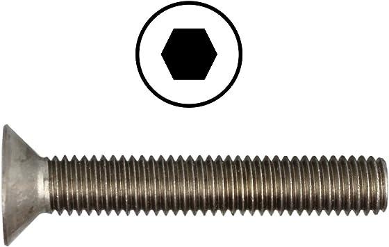 Senkkopf M5x10 Innensechskantschrauben A2- Edelstahl-M5 10 Stück DIN 7991