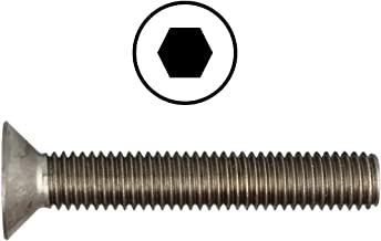 Verzonken kopschroeven M5 X 50 DIN 7991 met binnenzeskant (ISK) roestvrij staal A2 (10 stuks) - V2A verzonken schroeven me...