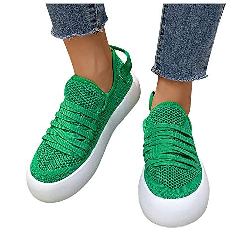 FeelFree+ Zapatos de Verano Casual para mujer Zapatillas de gran tamaño con plataforma con estampado de leopardo de malla Tacón de Cuña transpirable moda Zapatos de Running Sneakers Ligeras