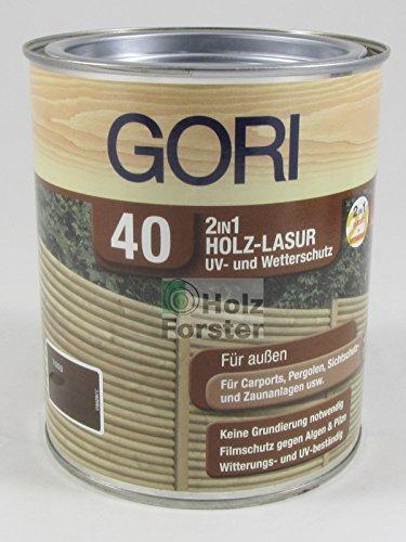 Gori 40 UV- und Wetterschutz Holzlasur 2in1 7810 Palisander, 0,75 Liter