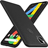 TheGiftKart Shockproof Durable Back Case Cover for Google Pixel 4A | Protective Soft Flexible Armor | Anti-Skid Back | Camera & Screen Protection Lip Design (Matte Black)