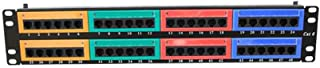 Xinjieda 48 Ports Cat6 Colorful Distribution Frame Wallmount Rackmount Patch Panel Ethernet Cable Ports Network
