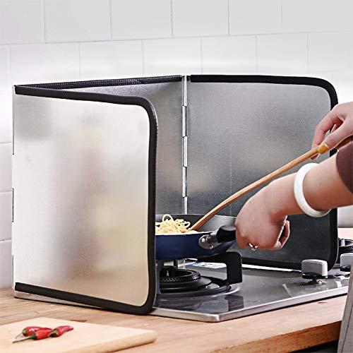 WENBING Protector Anti-Salpicaduras de Cocina, Protector de Salpicaduras de Aceite Plegable Protector de Cocina de Gas a Prueba de Salpicaduras para Accesorios de Cocina,97×30cm