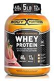 Body Fortress Super Advanced Whey Protein Powder, Gluten Free, Strawberry, 5 Lbs