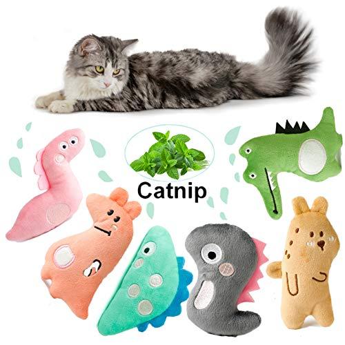 Dorakitten Katzenspielzeug mit Katzenminze 6 Stück Interaktiv Katzenspielzeug Set Katzenminze Spielzeug für Katzen Plüsch Katzenkissen | Katze Beschäftigung Spielzeug für Spielen, Trainieren