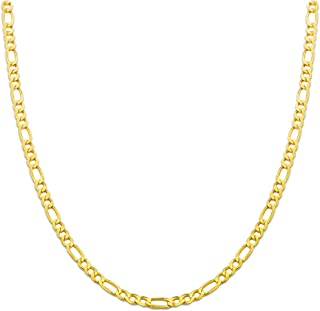 10K Yellow Gold 4.5mm Solid Figaro Chain Necklace, Available in 16 to 30 inches