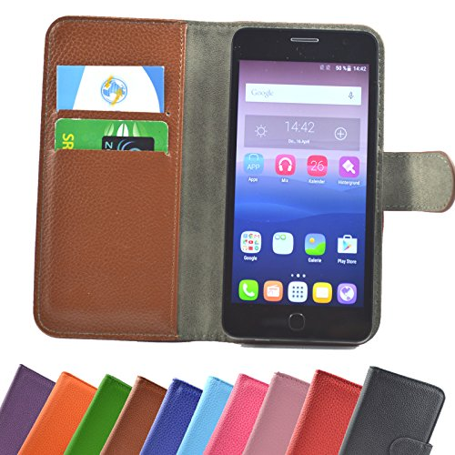 Medion Life X5020 Smartphone / Slide Kleber Hülle Case Cover Schutz Cover Etui Handyhülle Schutzhülle YT in Braun