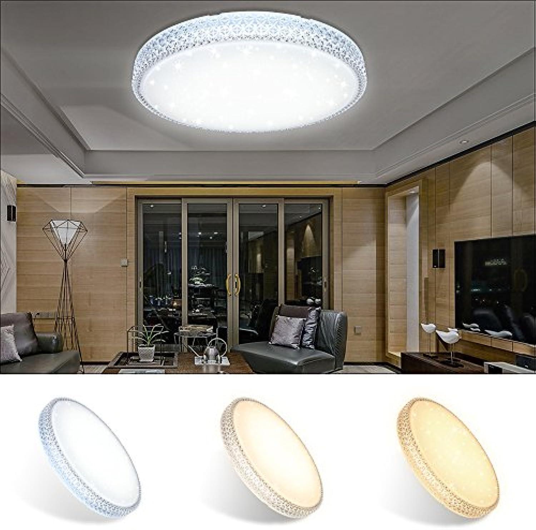VINGO 60W LED Deckenleuchte Starlight-Design Deckenlampe Wandlampe Wohnraum Schlafzimmer Deckenbeleuchtung Farbwechsel rund Kristall Mordern Kinderzimmer Sternen Dekor Energiespar Badlampe Flurleuchte Lampe