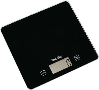 Terraillon Balance de Cuisine, Tare, Conversions Liquides, Ultra-Fine, Portée 5 kg, Classic Black, Noir