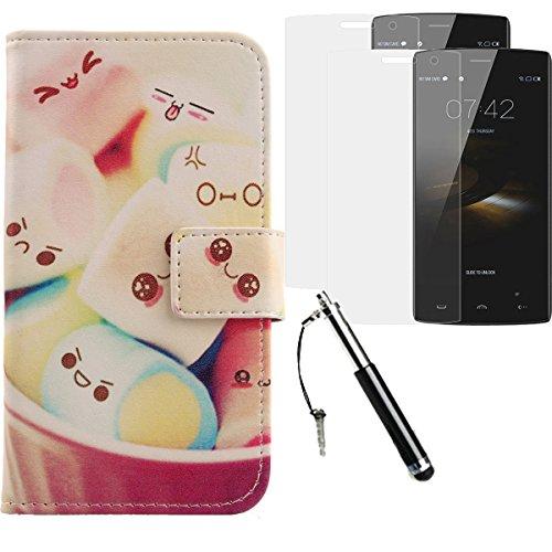 Lankashi Lovely PU Flip Leder Tasche Für Doogee HomTom HT7 Pro 5.5