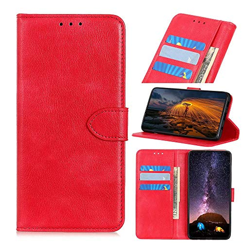 Wuzixi Case for Vodafone Smart N10. Anti-Scratch, Flip Case Side suction Kickstand Feature Card Slots Case, PU Leather Folio Cover for Vodafone Smart N10.Red