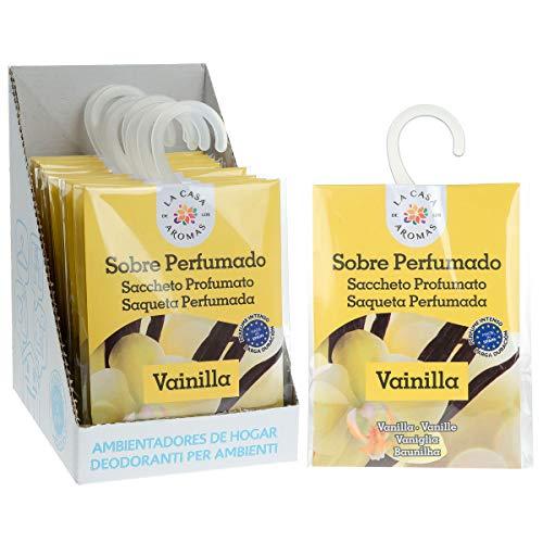 Set de 12 Sobres Perfumados, Bolsitas Aromáticas de Vainilla, Saquitos para el Armario, Cajón, Ropa de Bebé, Zapatero, Maleta