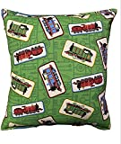 Thomas The Train Pillow Thomas The Tank Engine Pillow Green (Rare) All Our Pillows Are Handmade Hypoallergenic Cotton with Flannel Backing Ideal for Gift and Multiple Uses