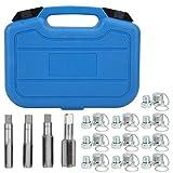 KSTE Tapones Carter Aceite, 64 Uds cárter de Aceite de Aluminio reparación de Rosca Caja de Cambios tapón de Drenaje Kit de Herramientas Accesorio de Mantenimiento