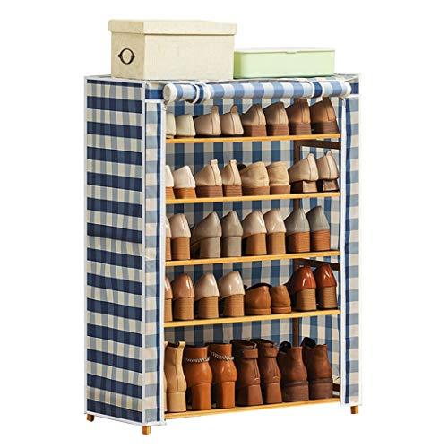 Schuhablage Fünfstöckiges Schuhregal Schuhablage-Organizer-Schrankturm mit Oxford-Stoffbezug Geeignet for Familienschlafsäle Schuh Organizer (Color : Multi-Colored)