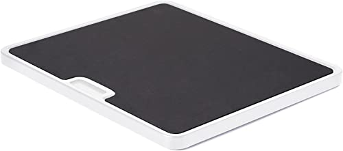 Nifty Large Appliance Rolling Tray - White, Home Kitchen Counter Organizer, Integrated Rolling System, Non-Slip Pad T...