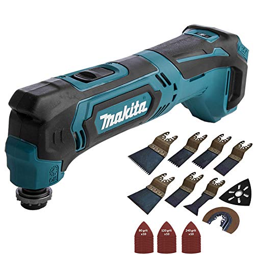 Makita TM30DZ 10.8v CXT Cordless Multi-Tool Body with 39 Pieces Accessories Set