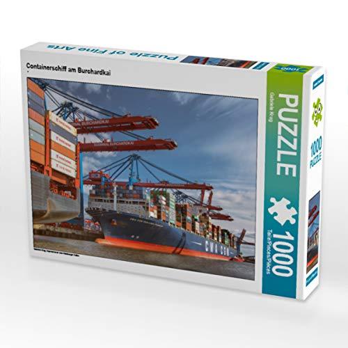 CALVENDO Puzzle Containerschiff am Burchardkai 1000 Teile Lege-Größe 64 x 48 cm Foto-Puzzle Bild von Gabriele Krug