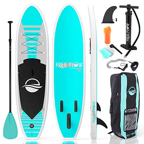 SereneLife Inflatable Stand Up Paddle Board with Premium SUP Accessories