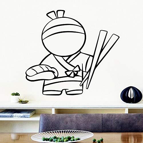 BailongXiao Schöne nudel wandkunst Aufkleber Moderne wandaufkleber Wohnzimmer Firma Schule büro Vinyl Aufkleber 54X59.4cm