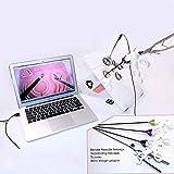 AMITD Chirurgie Simulator Trainingsbox, Laparoskopisch Trainer Box Ausbildung, 4 Chirurgische Instrumente, Eingesetzter HD-USB-Kamera, 5 Trainingsmodulen