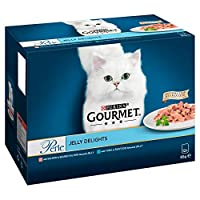 Our Gourmet Perle Jelly Delight multipack contains delicious recipes in Jelly with Salmon and Tuna 100% complete and balanced nutritional pet food for adult cats (aged 1 to 7). Served in 85g pouches to keep every meal fresh and convenient Packed with...