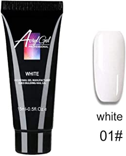 Niome 15ml Poly Gel Quick Building Soak Off Nail Extension UV Builder Gel Manicure Long Lasting Gel white01
