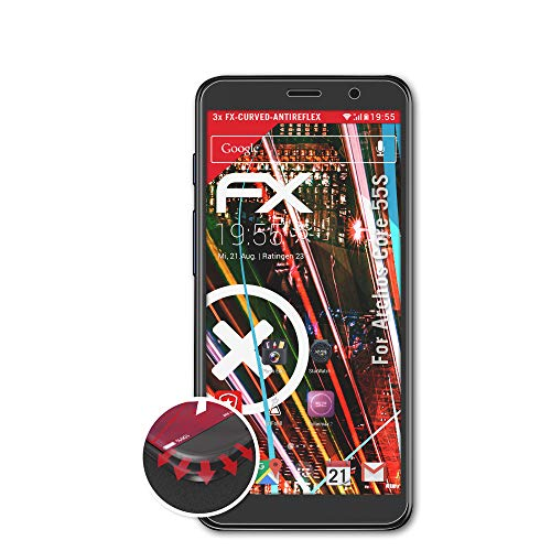 atFolix Schutzfolie kompatibel mit Archos Core 55S Folie, entspiegelnde & Flexible FX Bildschirmschutzfolie (3X)