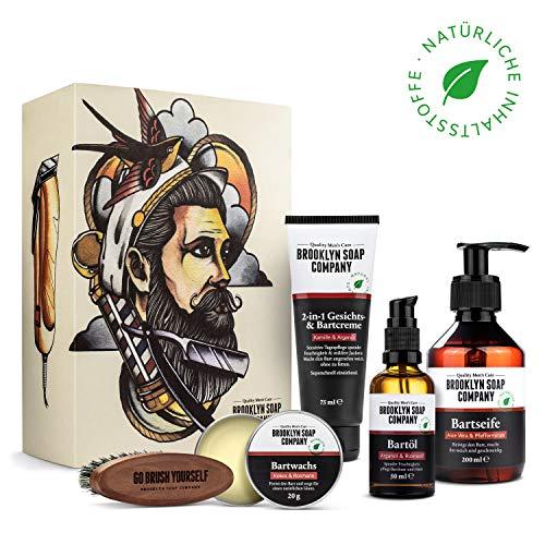 Ultimate Beard Box · Brooklyn Soap Company · Hochwertiges Bartpflege Set inkl. Bartöl, Bartshampoo, Bartbürste, Bartwachs & Bartcreme
