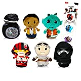 Star Wars New Trilogy Plush Toys Hallmark Itty Bittys Star Wars Set- 6 Pc Star Wars Plush Toys Bundle Featuring Kylo Ren, Rey, and More (Star Wars Party Decorations)