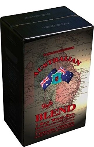 Kit de vino tinto de mezcla australiana de 23 l, 30 botellas, 7 días, Merlot, no requiere azúcar