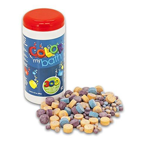 Color My Bath - Pastiglie cambia colore per il bagnetto - 300 pezzi