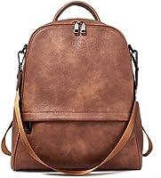 BROMEN Backpack Purse for Women Leather Anti-theft Travel Backpack Fashion College Shoulder Handbag