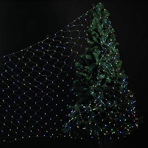 Lagute Starburst LED Mesh Tree-Wrap Lights, Multi-Color | 694 Waterproof Mini LEDs | Fit for 7.5 ft Artifical Tree or 6 ft Real Tree | 30V | 8 Modes| Decorative Lights for Christmas Trees