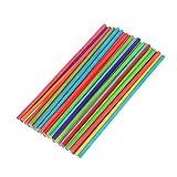 Shanyaid La qualité 50pcs bâtonnets de Bois colorés en Bois Ronds bâtons en Bois...