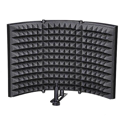 PQZATX Klappbares Studiomikrofon Isolierung Schild Schallabsorber Aufnehmen