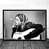 JYWDZSH Leinwanddruck Kurt Cobain Rockmusik Sänger