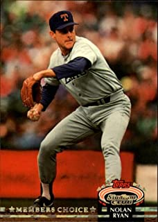 1992 Topps Stadium Club Baseball Card #605 Nolan Ryan