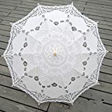 YZMBYUSAN Umbrella Fashion Sonnenschirm Cotton Embroidery Bridal Umbrella White Parasol Umbrella Hochzeitsregenschirm Dekorationen -
