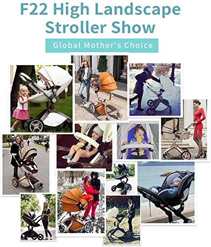 Baby Stroller in 2020,Hot Mom Baby Carriage with Adjustable Seat Height Angle and Four-Wheel Shock Absorption,Reversible,High Landscape and Fashional Pram,White