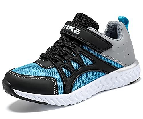 scarpe da corsa bambino Scarpe Sportive Bambini e Ragazzi Scarpe da Corsa Ginnastica Respirabile Mesh Running Sneakers Fitness Casual(J Blu