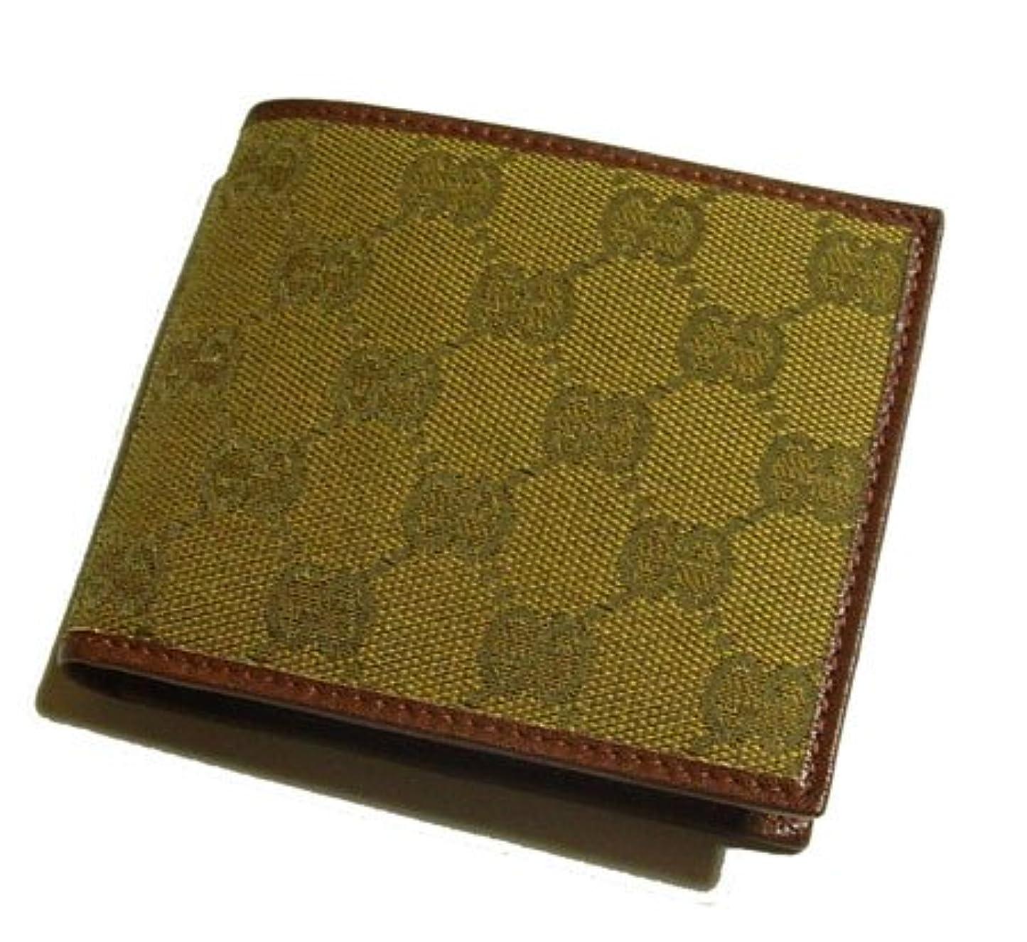 ティーンエイジャーベールスイングGUCCI/グッチ GGキャンバス 二つ折りメンズ財布(小銭入れなし) 231847-7778